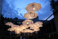 Umbrella Art - Umbrella Installation by Ingo Maurer