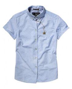 Signature tomboy short-sleeved shirt - Shirts - Scotch & Soda Online Shop