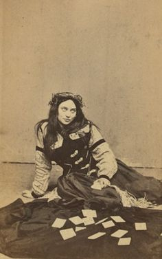 Fortune teller, early 1870s. #historical  #sepia #magickal