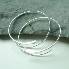 Sterling Silver Open Hoops Hammered Large Silver by ArtistiKat, $27.95