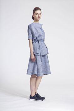 IMRECZEOVA SS16 grey linen top and skirt Ss16, High Neck Dress, Grey, Skirts, Dresses, Fashion, Dress, Turtleneck Dress, Ash