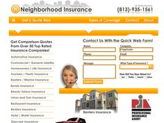www.ABCInsuranceofTampa.com    ABC Insurance contacted us to create a site to handle their leads incorporating all of their forms for the different insurance types etc. We delivered all that and more, and within a single-frame interface, using Flash.