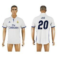 Real Madrid 16-17 #Jese 20 Hjemmebanetrøje Kort ærmer,208,58KR,shirtshopservice@gmail.com
