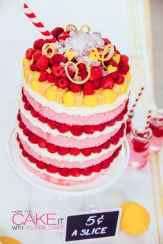Pink Lemonade - The Visual Cake! Pink Lemonade Mega Cake with Lemon Cu – HOW TO CAKE IT