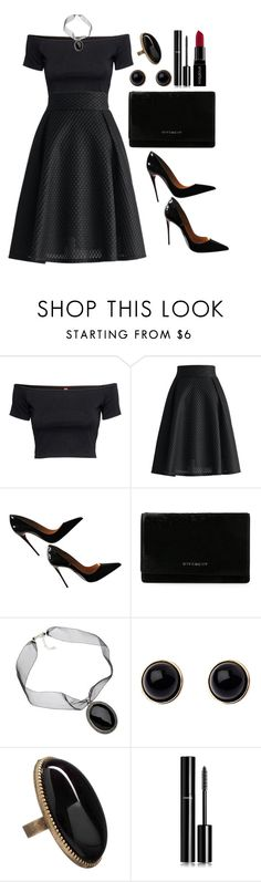 """Untitled #3489"" by natalyasidunova ❤ liked on Polyvore featuring H&M, Chicwish, Christian Louboutin, Givenchy, VIcenza, Adele Marie, Betty Jackson. Black, Chanel and Smashbox"