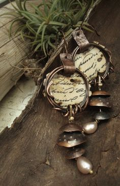 Timeless  Mixed Media Earrings by AlteredAlchemy on Etsy, $62.00