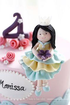 Princess theme cake by Bake-a-boo Cakes NZ, via Flickr