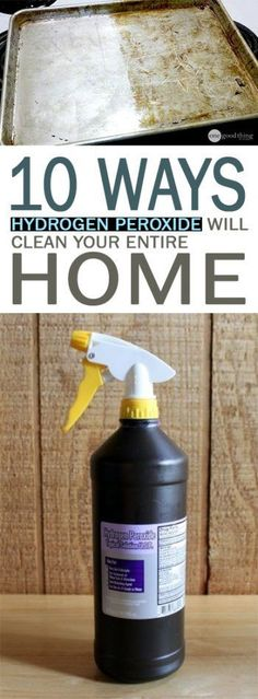 Uses for Hydrogen Peroxide, How to Use Hydrogen Peroxide, Great Ways to Use Peroxide, How to Use Peroxide In the Home, Life Hacks, Cleaning Tips and Tricks, Popular Pin