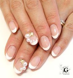 Sweet pearl franch nail #nailart