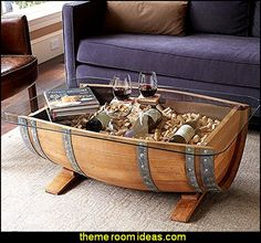 Fill the barrel with corks and display prized bottles under the glass, or use…