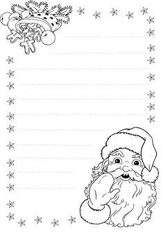 Раскраски Письмо Деду Морозу распечатать бесплатно