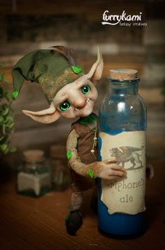 Gnome art doll by Furrykami-creatures