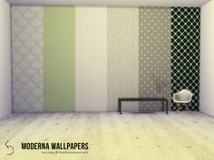 Six wallpapers with a Scandinavian feel, fit for any home - modern or rustic.  Found in TSR Category 'Sims 4 Walls'