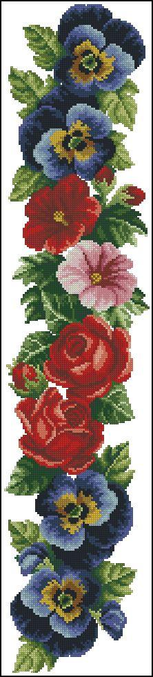"Photo from album ""Ретро-цветы"" on Yandex. Cross Stitch Fruit, Cross Stitch Bird, Cross Stitch Borders, Cross Stitch Flowers, Cross Stitch Designs, Cross Stitching, Cross Stitch Embroidery, Cross Stitch Patterns, Embroidery Stitches Tutorial"