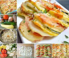 Summer Vegetable Tian: summer veggies baked with herbs and cheese! Vegetable Recipes, Vegetarian Recipes, Cooking Recipes, Healthy Recipes, Yummy Recipes, Dinner Recipes, Vegetable Tian, Enjoy Your Meal, Veggies