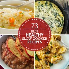 73 Slow Cooker recipes for a  healthy menu #slowcooker #crockpot