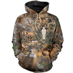 Deer Skull Hunting Camo All Over Printed Shirts For Men & Women Camo Sweatshirt, Sweater Hoodie, Pullover, Printed Sweatshirts, Printed Shirts, Hooded Sweatshirts, Bedrukte Shirts, Hunting Camo, Hunting Shirts
