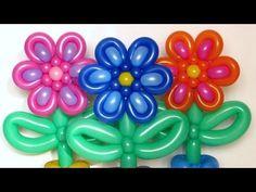 Цветок из двух шаров ШДМ / Flower of two balloons 160 - YouTube