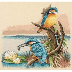 The Kingfishers Cross Stitch Kit