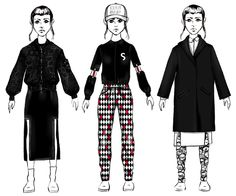 Three Outfits from Oaddap Somenid Elin Anderson
