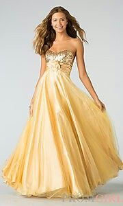 #pretty #prom #dress #gold