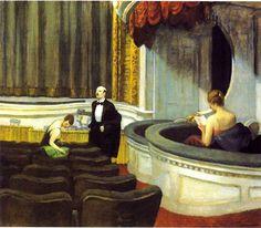 Edward Hopper: Two on the aisle - 1927 http://ellis91.tumblr.com/post/24875517701/loverofbeauty-edward-hopper-two-on-the-aisle