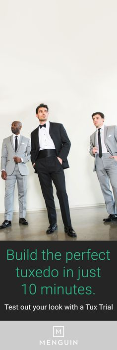 You've got a million things to do before your big day. So when it comes to your groom's tux, let us do the heavy lifting. From styling to measuring, Menguin's got you covered. We make it easy; you make it your own.  https://www.menguin.com/user/?utm_source=Pinterest&utm_medium=16.4P