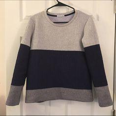 Zara Color Block Crewneck Sweater Like new. Worn twice. Very comfortable. Looks great with mini skirts. Zara Sweaters Crew & Scoop Necks