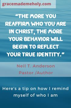 What's Your Identity? - Grace Made me Holy Trust Quotes, Faith Quotes, Bible Quotes, Bible Verses, Christian Devotions, Christian Encouragement, Encouragement Quotes, Identity Quotes, True Identity