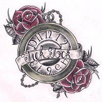 pocket watch with banner