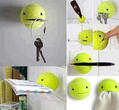 Recycled tennis ball, great idea ;) very usefull