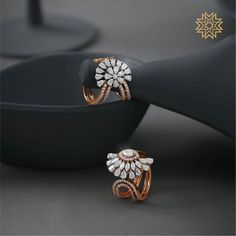 Check out these pretty Indian diamond earrings designs online by the brand Manubhai Jewellers.