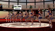 SLCS Second Life Cheerleading Squad on board the Galaxy Cruise Ship - Si...