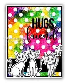 Curious cats - Textured backgrounds by Understand Blue