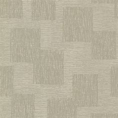 Metallic ink shimmers beneath a sketched crosshatch pattern. The raised taupe lines create a texture with a distinguished feel. Bowie is an unpasted, non woven wallpaper.