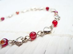 Red Heart Czech Glass Bead Bracelet by @Sempsie is a lovely deal for @spsteametsy  #ChristmasInJuly sale through July 20, 2014.