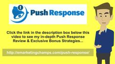Push Response Review - https://www.youtube.com/watch?v=7IjMBpRuHPo - Push Response Bonus - Should you design your site at frozen pixels, (say 700 x 600) afterward those surfers with smaller computer screens will need to scroll across only to begin to see the whole breath of your page. This can be somewhat annoying which is the final thing you need to do your visitors to – annoy.  Ensure that your font kind and size can be accessible and readable.