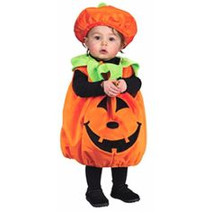 Super soft infant pumpkin jumper tunic. It's unique and original for both baby boys and girls. What a happy jack o lantern. - Plush vest - Hat - SKU: CA-009772