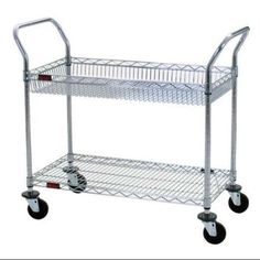 EAGLE GROUP WBC1836C-1B1W Basket Utility Cart,18 In. W,36 In. L G6715064