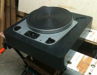 Early Garrard 301 Grease in Stacked Slate Plinth Right Side