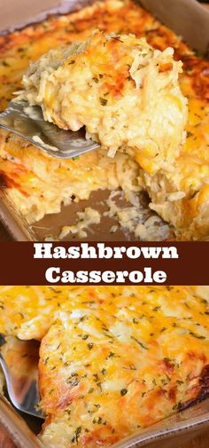 Hashbrown Casserole. Wonderful comforting potato dish loaded with cheddar cheese and creamy sauce. It's easily prepared without canned soup and baked to a gooey perfection. #sidedish #potatoes #sides #casserole #hashbrowns Hashbrown Casserole Recipe, Potatoe Casserole Recipes, Hash Brown Casserole, Casserole Dishes, Breakfast Casserole, Baked Hashbrown Recipes, Gluten Free Casserole, Hashbrown Breakfast, Cracker Barrel Hashbrown Casserole