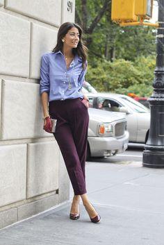 #fashion #fashionista Lindsey azzurro viola Buttoned Up | Saucy Glossie