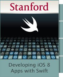 ••iOS 8 SWIFT•• $0! 4:50hrs Programming class by Stanford on iTunes University 2015-01-27 • Prerequisites: C language and object-oriented programming experience exceeding Programming Abstractions level, and completion of Programming Paradigms • http://online.stanford.edu • https://developer.apple.com/swift