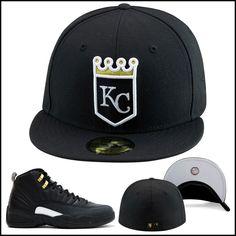 Era Kansas City Kc Royals Fitted Hat Black Gold Jordan 10 Nyc 12 The Master dd9f21d5c99
