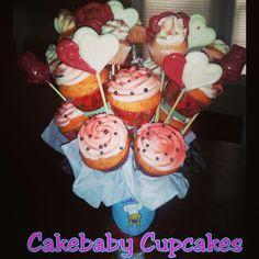 The BigBaby Boucake. 12 cupcakes, 10 CBC jrs, 8 suckers. You're design. Your flavor. #cakebabycupcakes #cupcakes #custom #Atlanta #Delivery #ValentinesDay #Vday