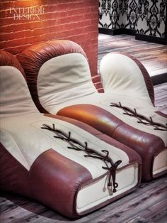 Unique product masculine sitting boxing glove chairs that would be great in  studs-cave