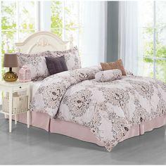 Journee Home 'Cartegena' 7-piece Duvet Set | Overstock.com Shopping - The Best Deals on Duvet Covers