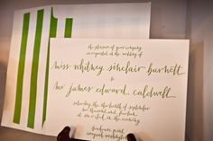 Photography by kcassidyphotography.com, Invitations by bellafigura.com, Calligraphy by thelefthandedcalligrapher.com