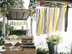 cute yellow and grey wedding ideas @Amanda Snelson Schmidt - check out this link.  So pretty! :)