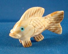Zuni hand carved Picasso Marble Fish Fetish by Christine Banteah. $44.99 with Free Shipping. Just Click on the above picture to be taken to the Ebay listing.